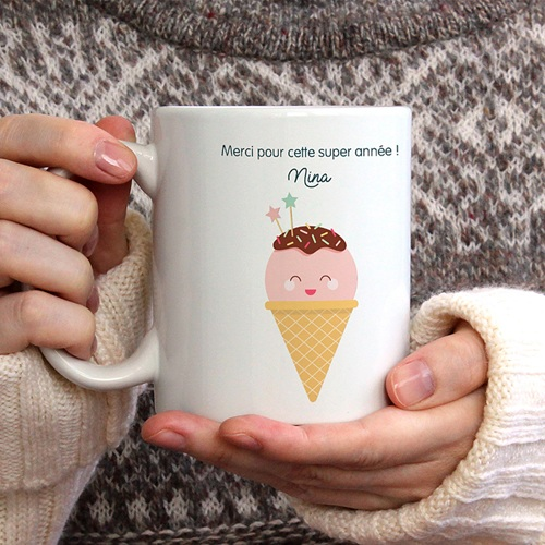 Mug Personnalisé Photo Happy Ice Cream gratuit