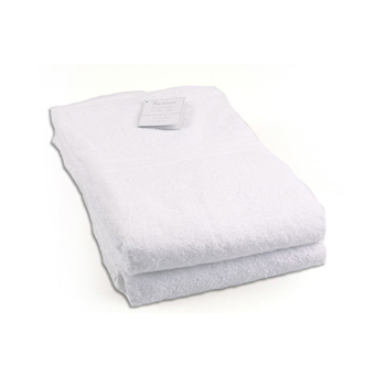Serviettes de bain - drap de douche blanc personnalisable