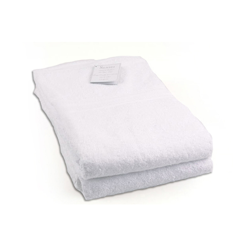Serviettes de bain drap de douche blanc - Drap de douche personnalise ...