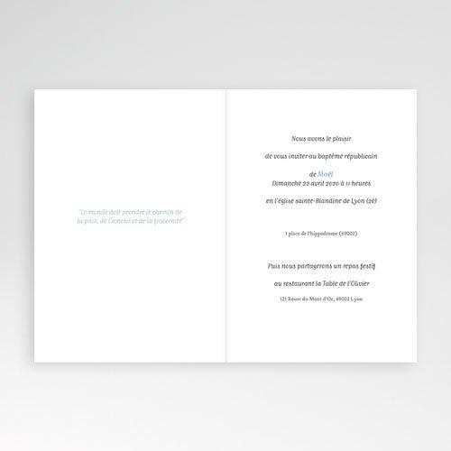 Faire-Part Baptême Garçon Pinceau Bleu pas cher