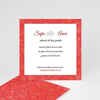 Carton Invitation Personnalisé - Mariage oriental - 2