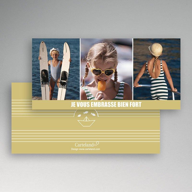 Cartes Multi-photos 3 & + - Marinière beige 7634 thumb