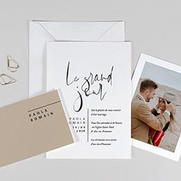 Faire-part mariage Typo Manuscrite