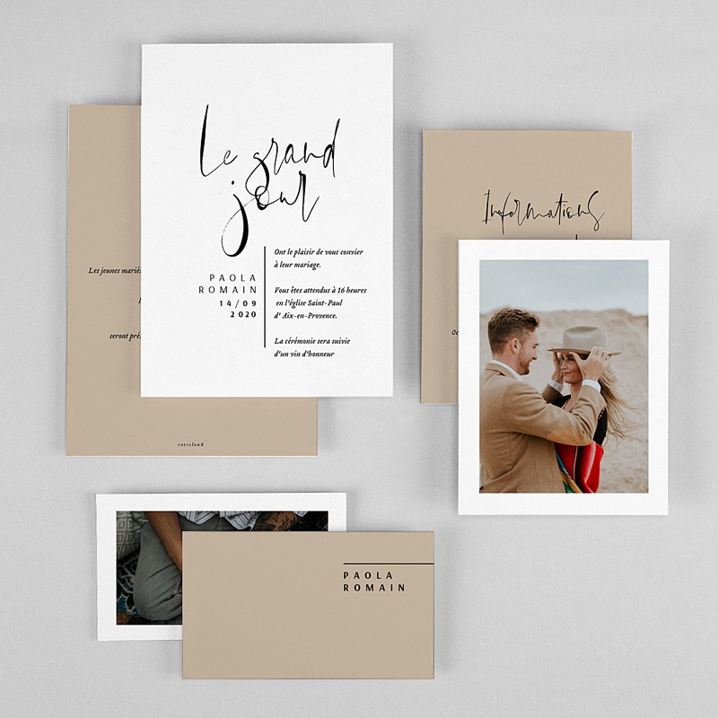Faire-part mariage Typo Manuscrite gratuit
