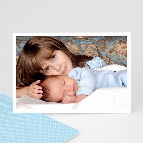 Carte personnalisée 1 photo Bordure blanche
