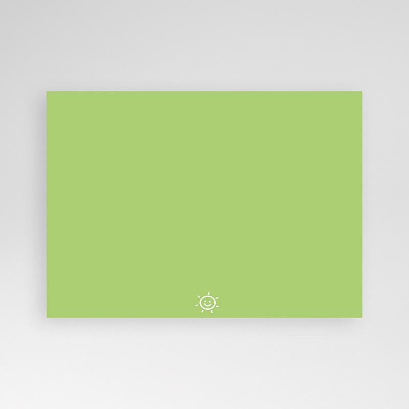 Carte personnalisée 1 photo Smiles - bandeau marron pas cher