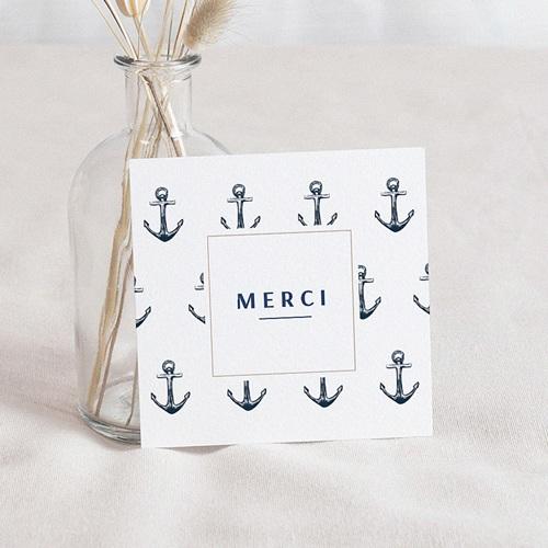 Carte Remerciement Naissance Garçon Brise Marine