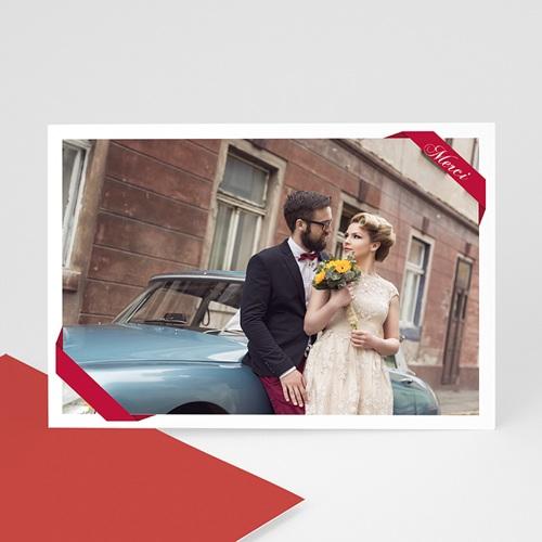 Cartes photo à créer - Ruban rouge 7659
