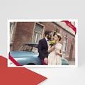 Carte personnalisée 1 photo Ruban rouge