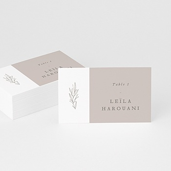 Création marque place mariage kinfolk floral
