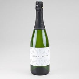 Etiquette bouteille champagne Kinfolk Floral
