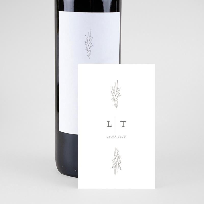 Étiquette bouteille mariage vin Kinfolk Floral pas cher