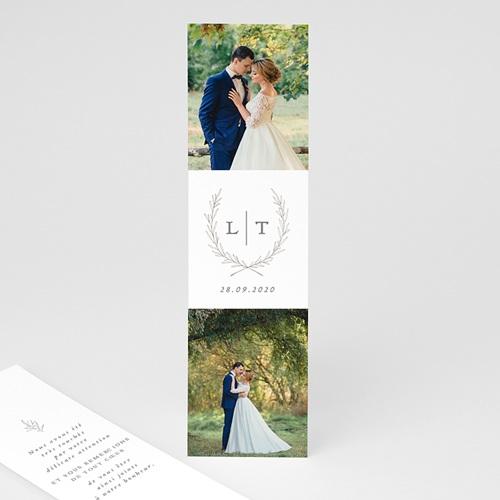 Carte remerciement mariage chic Kinfolk Floral