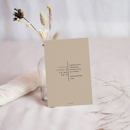 Save The Date Mariage Typo Manuscrite pas cher