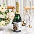Etiquette Bouteille Champagne Typo Manuscrite gratuit