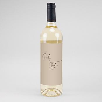 étiquette bouteille mariage vin typo manuscrite pas cher