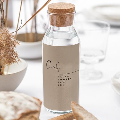 Étiquette bouteille mariage vin Typo Manuscrite gratuit