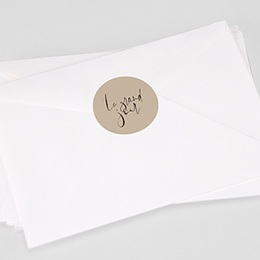 Étiquette autocollante mariage Typo Manuscrite