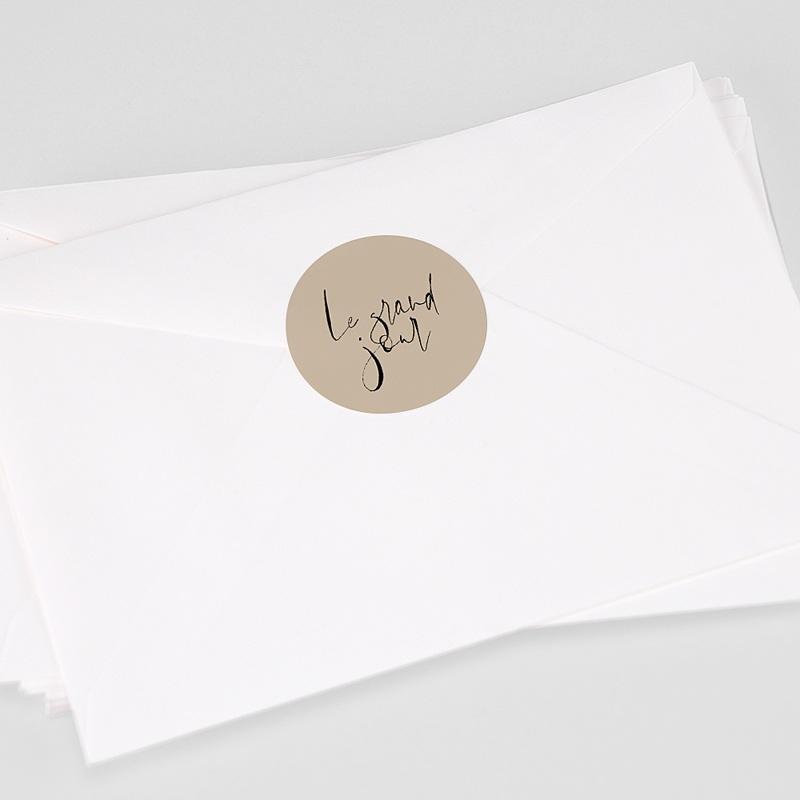 Etiquette Autocollante Mariage Typo Manuscrite