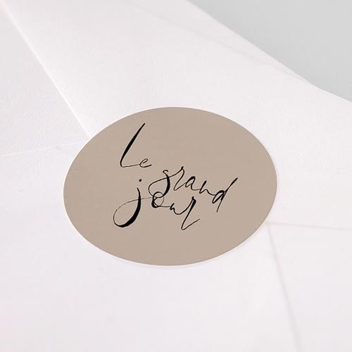 Etiquette Autocollante Mariage Typo Manuscrite pas cher