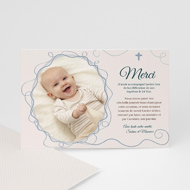 Carte Remerciement Baptême Garçon Lucien