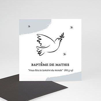 Carte remerciement baptême garçon Sainte Colombe