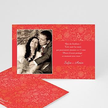 Remerciements mariage personnalisés bahreï, n rouge