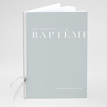 Livret de messe baptême - Pli décalé - 0