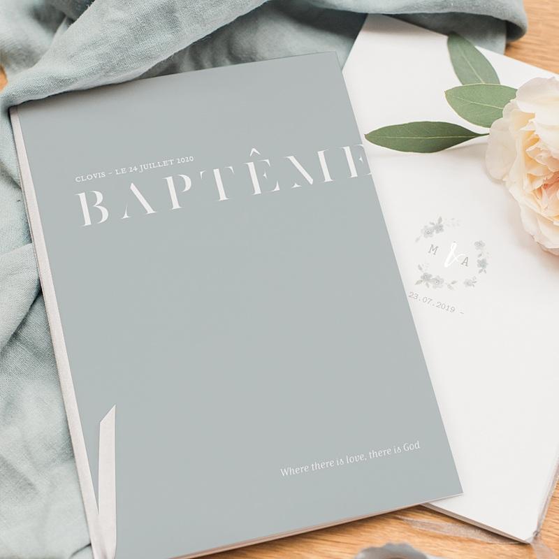 Livret Messe Baptême Pli décalé pas cher