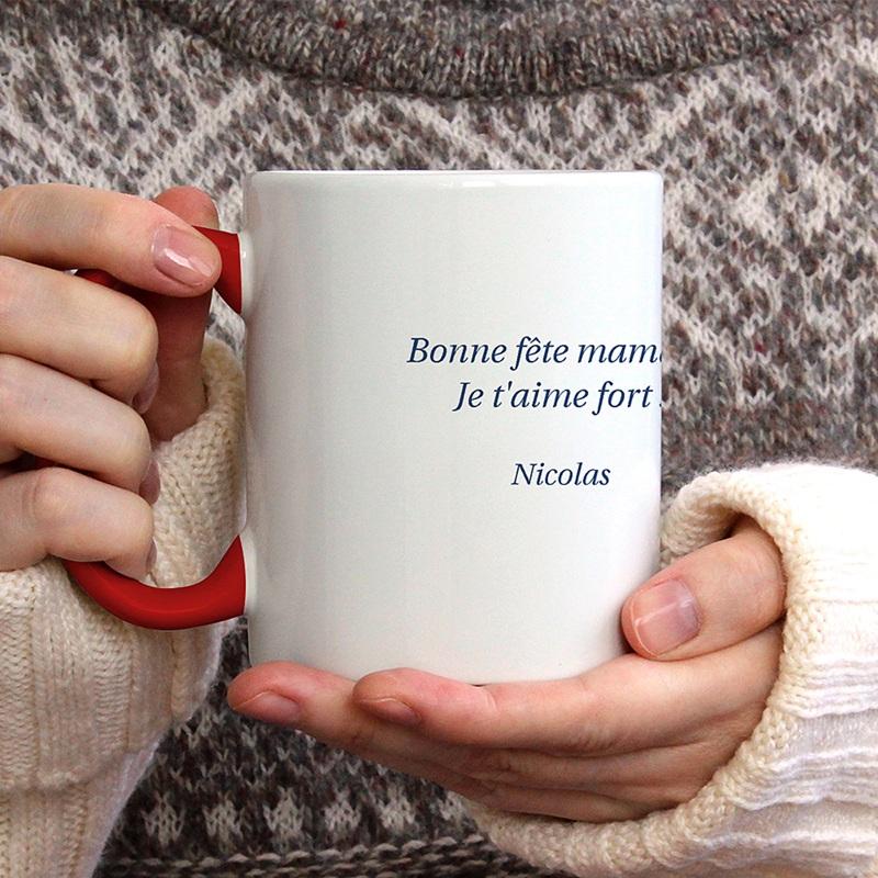 Mug Personnalisé Fête des Mères Idée originale Super maman gratuit