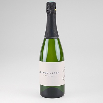 Etiquette bouteille champagne inspiration kinfolk personnalisable