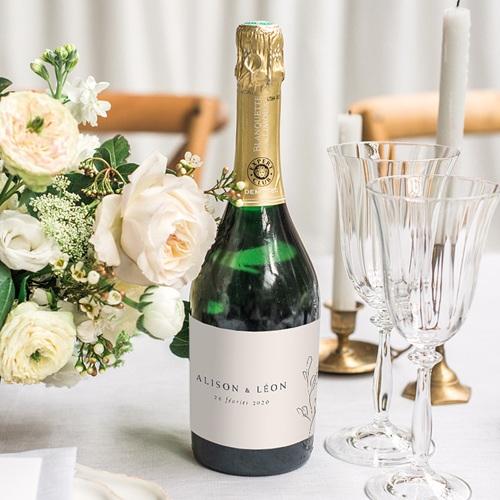 Etiquette Bouteille Champagne Inspiration Kinfolk gratuit