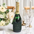 Etiquette Bouteille Champagne Vert & Kraft gratuit