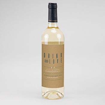 étiquette bouteille mariage vin vert et kraft personnalisable