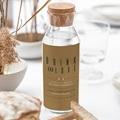 Étiquette bouteille mariage vin Vert & Kraft gratuit