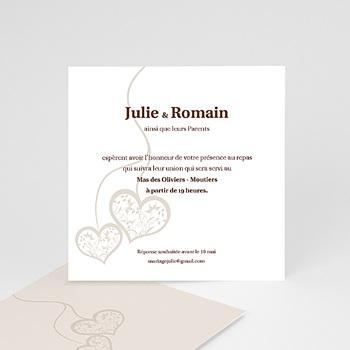 Carton Invitation Personnalisé - Nous deux - invitation photo, remerciements - 2