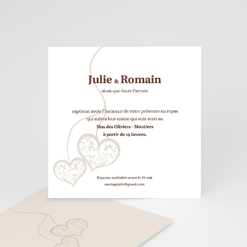 Carton Invitation Personnalisé Nous deux - invitation
