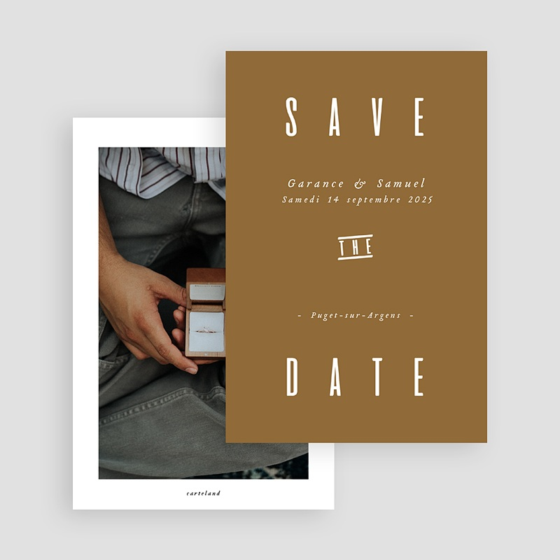 Save The Date Mariage Lin & Moutarde gratuit