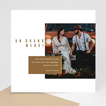 Carte de remerciement mariage photo Lin et Moutarde
