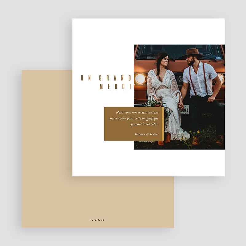 Carte remerciement mariage photo Lin & Moutarde gratuit