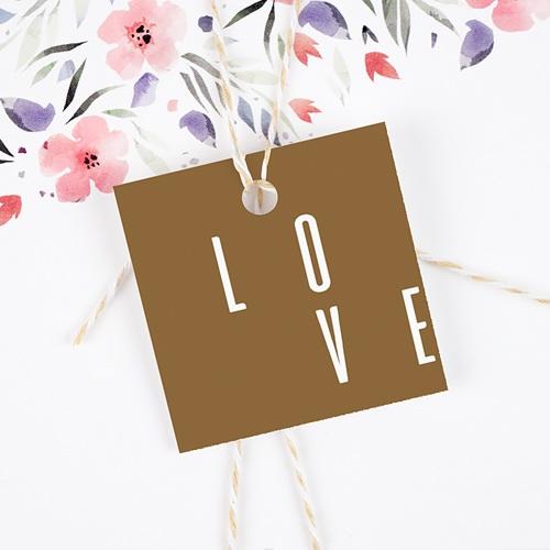 Etiquette Cadeau Mariage Lin & Moutarde gratuit