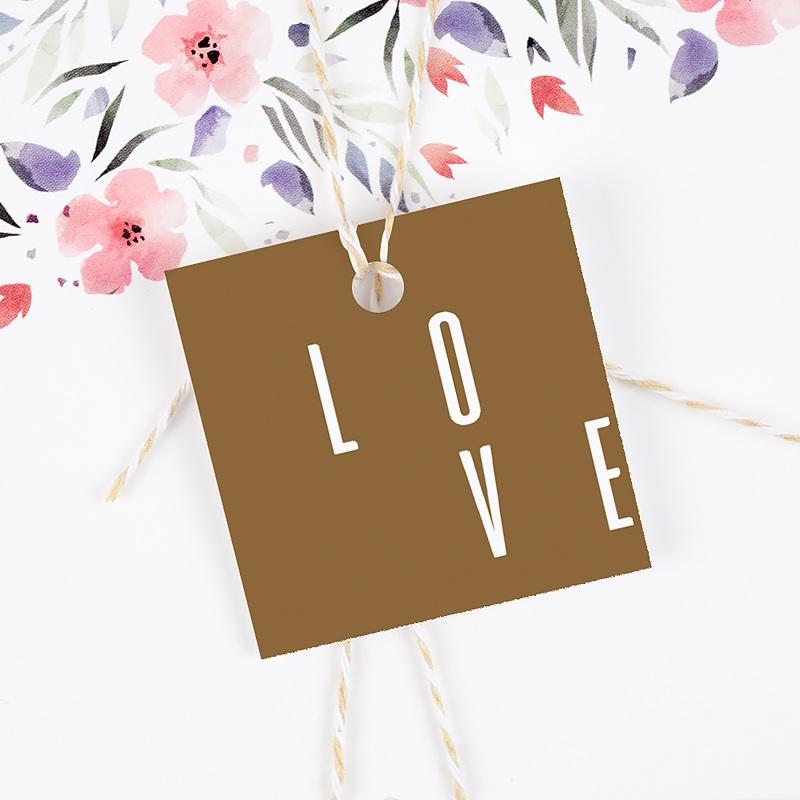 Etiquette mariage Lin & Moutarde gratuit