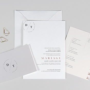 Faire-part mariage simple Cachet Moderne