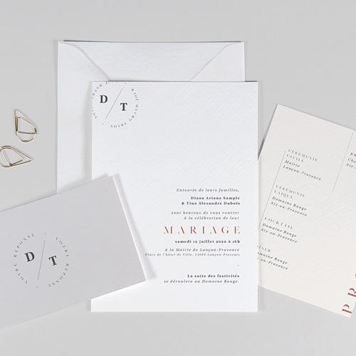 Faire-Part Mariage Simple Cachet Moderne