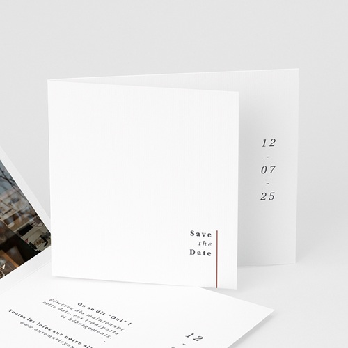 Save The Date Mariage Cachet Moderne