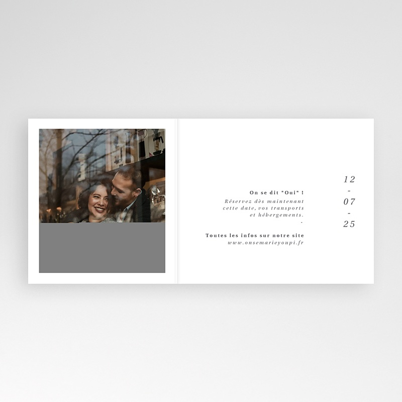 Save The Date Mariage Cachet Moderne pas cher