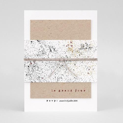 Faire-Part Mariage Kraft - Authentique 77301 thumb