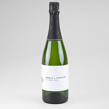 Etiquette bouteille champagne musique personnalisé
