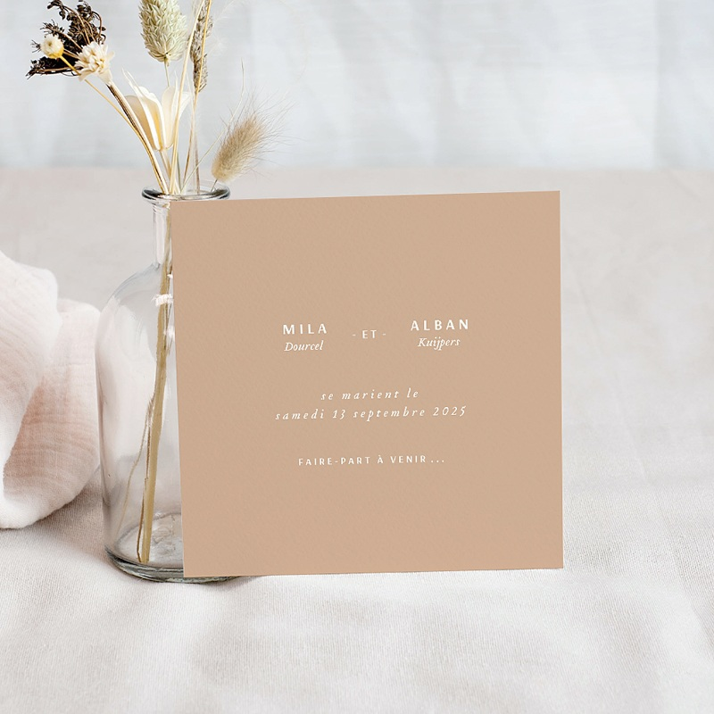 Save The Date Mariage Milan, D-DAY, 10 x 10 cm pas cher