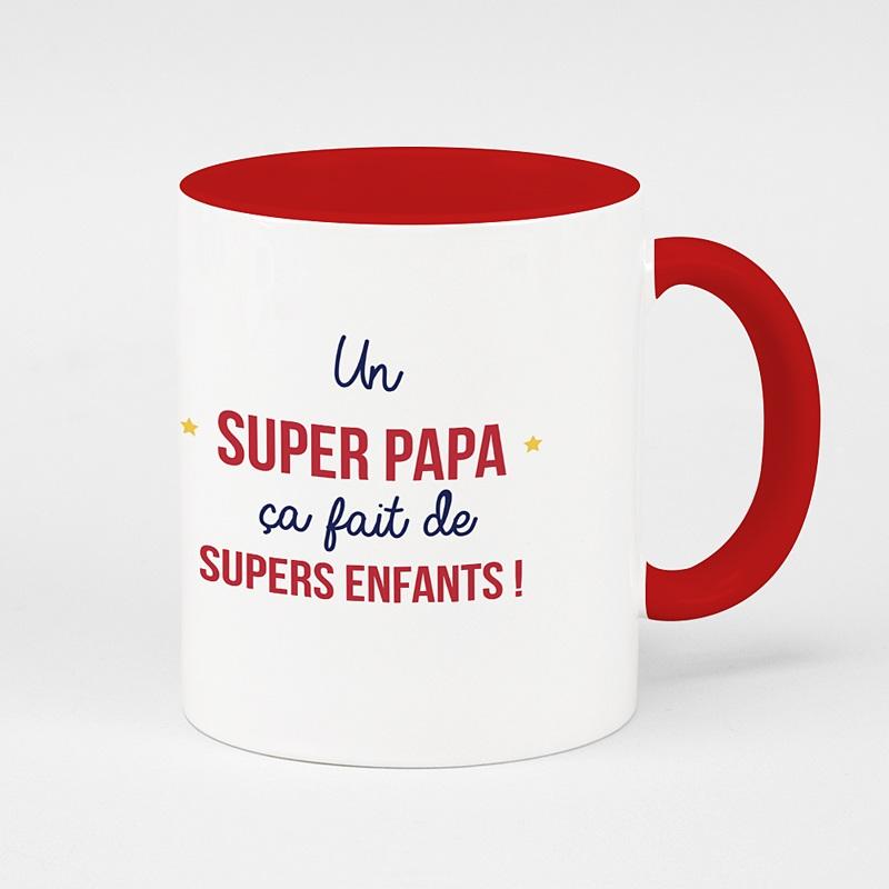 Mug Personnalisé Fête des Pères Idée cadeau un super papa ça fait de super enfants